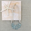 Sea Glass + Pearl Tri-Layer Necklace