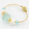 Sea Glass + Puka Bangle