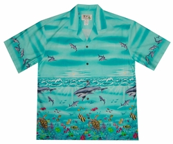 Shark Storm Blue Hawaiian Shirt