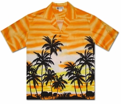 Sunset Glow Orange Hawaiian Shirt