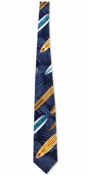Surfing Matrix Blue Men's Necktie