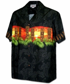 Tiki Guardian Black Hawaiian Shirt