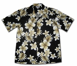 Tropic Fever Black Hawaiian Shirt