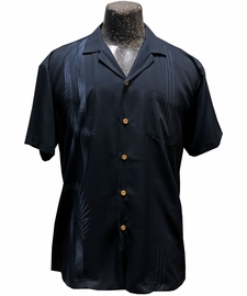 Tropic Shadow Black Hawaiian Shirt