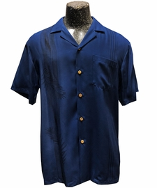 Tropic Shadow Navy Hawaiian Shirt