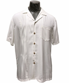 Tropic Shadow White Hawaiian Shirt