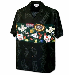 Vegas Baby! Black Hawaiian Shirt