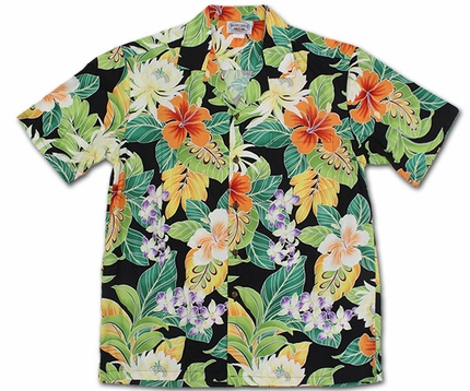 Vivacious Vibe Black Hawaiian Shirt