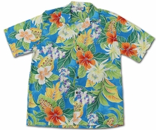 Vivacious Vibe Blue Hawaiian Shirt