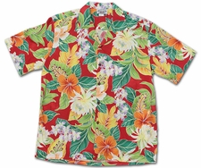 Vivacious Vibe Red Hawaiian Shirt