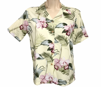 Women's Bamboo Orchid Yellow Campshirt