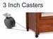 Beds By George 3 Inch casters - click here to enlarge