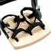 Leckey Footplate with Sandal Straps - Size 4 - click here to enlarge
