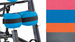 Leckey Mygo Stander Basic Knee Straps - click here to enlarge