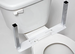 U-Shape Mounting Base Only for Toilet Support and/or Armrests - click here to enlarge