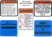 Jensen Swing Warning Labels for Jensen ADA Swing <br>(Set of 5) - click here to enlarge