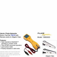 Harris Fluke Networks 19800-003 TS19 Series Butt-in Telephone Test Set with Banana Jacks to Alligator Clips