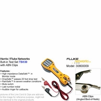 Harris Fluke Networks 30800-009 Butt-in Telephone Test Set TS30 Series with ABN clips (Angled Bed-of-Nails)