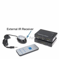 HDMI 3x1 Mini HD Digital Switcher v1.3b - 25m Amplified w/ External IR Receiver+Remote (HDMISWM)
