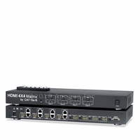 *HDMI 4x4 True Matrix Switcher Splitter by Cat5e/6 v1.3 1080p Dolby Digital RS232, Sku: HDMIMX44E