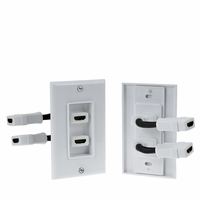 * HDMI Wall Plate Coupler Dual Female To Female Type A 19pin Ports (HDMIWP3)