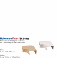 "HellermannTyton TSR Series Surface Cable Raceway  1""-radius Elbow Cover 90-degree L-Shpae"