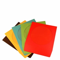 iMBA Multi-Color CD/DVD/Blu-Ray Paper Sleeve Envelopes with Flap and Clear Window - 100Pack