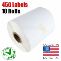 iMBAPrice® 10 Rolls of 450 Label (USA MADE) 4x6 Direct Thermal Label