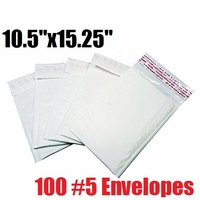 iMBAPrice 100 Count - #5 - 10.5x15.25 Poly Bubble Mailer Padded Envelopes (iMBA-PB-5-100)