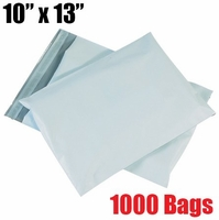 iMBAPrice 1000 - 10x13 Premium Matte Finish White Poly Mailer Envelopes Bags (iMBA-4PM-1000)