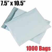 iMBAPrice 1000 - 7.5x10.5 Premium Matte Finish White Poly Mailers Envelopes Bags (iMBA-2PM-1000)