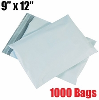 iMBAPrice 1000 - 9x12 Premium Matte Finish White Poly Mailer Envelopes Bags (iMBA-3PM-1000)
