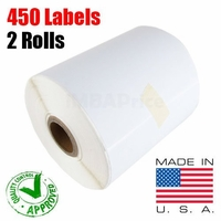 iMBAPrice® 2 Rolls of 450 Label (USA MADE) 4x6 Direct Thermal label