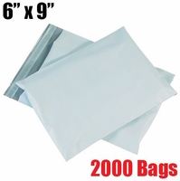 iMBAPrice 2000 - 6X9 Premium Matte Finish White Poly Mailer Envelopes Bags (iMBA-1PM-2000)