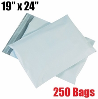 iMBAPrice 250 - 19x24 Premium Matte Finish White Poly Mailer Envelopes Bags (iMBA-7PM-250)