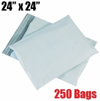 iMBAPrice 250 - 24x24 Premium Matte Finish White Poly Mailer Envelopes Bags (iMBA-8PM-250)