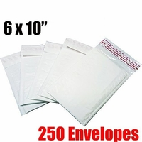 * On Backorder * iMBAPrice 250 Count - #0 - 6x10 Poly Bubble Mailer Padded Envelopes (iMBA-PB-0-250)