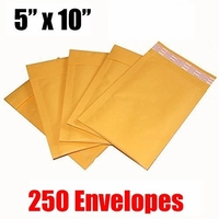 iMBAPrice 250 Count - #00 5 x 10 Kraft Bubble Mailers Padded Envelopes (iMBA-KM-00-250)
