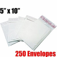 iMBAPrice 250 Count - #00 - 5x10 Poly Bubble Mailer Padded Envelopes (iMBA-PB-00-250)