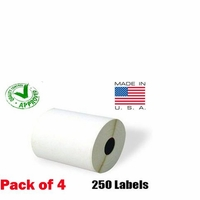iMBAPrice® 4 Rolls of 250 (USA MADE) 4x6 Direct Thermal Label