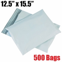 *on backorder* iMBAPrice 500 - 12 x 15.5 Premium Matte Finish White Poly Mailer Envelopes Bags (iMBA-5PM-500)
