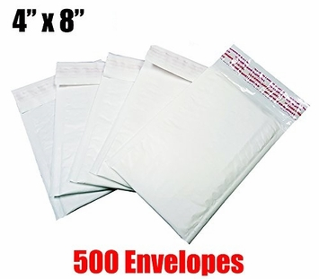 iMBAPrice 500 Count - #000 - 4x8 Poly Bubble Mailer Padded Envelopes (iMBA-PB-000-500)