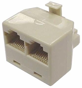 RJ45 T Adapter 8P8C Splitter, 1x Male - 2x Female Adapter