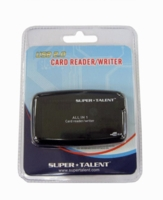 Super Talent SJAI-2 All-in-One USB2.0 External Card Reader (Black)