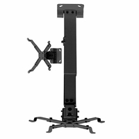 Universal Projector Tilt+Extended Arm Ceiling Bracket Mount Kit (WALLPRB2)