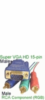 VGA to RCA Components