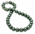 10.1 x 11.8mm Green Tahitian Pearl Necklace