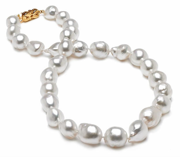 10.1 x 12.1mm Baroque South Sea Pearl Necklace - 16 inch