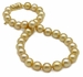 10.1 x 13mm Golden South Sea Necklace