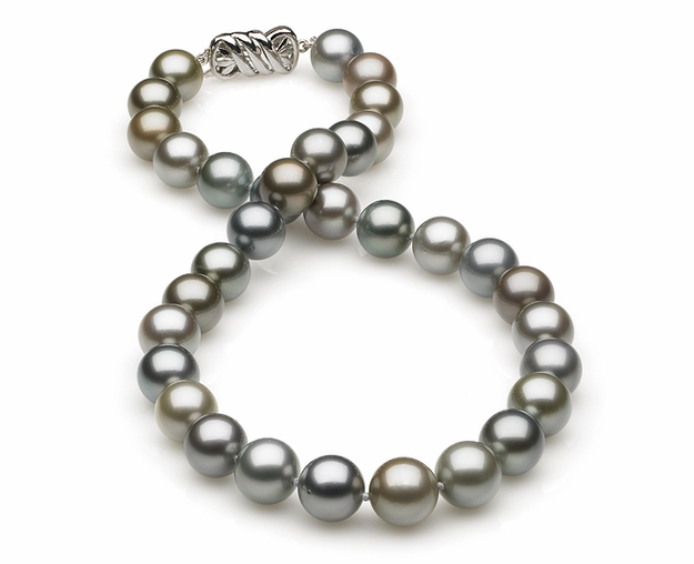 10.25x11.64mm Multicolor Tahitian Pearl Necklace